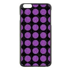 Circles1 Black Marble & Purple Denim (r) Apple Iphone 6 Plus/6s Plus Black Enamel Case by trendistuff