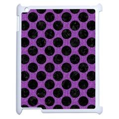 Circles2 Black Marble & Purple Denim Apple Ipad 2 Case (white) by trendistuff