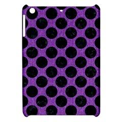Circles2 Black Marble & Purple Denim Apple Ipad Mini Hardshell Case by trendistuff
