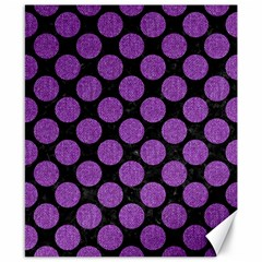 Circles2 Black Marble & Purple Denim (r) Canvas 8  X 10  by trendistuff