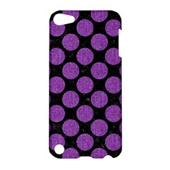 Circles2 Black Marble & Purple Denim (r) Apple Ipod Touch 5 Hardshell Case by trendistuff