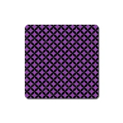 Circles3 Black Marble & Purple Denim Square Magnet by trendistuff