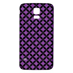 Circles3 Black Marble & Purple Denim Samsung Galaxy S5 Back Case (white) by trendistuff
