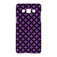 Circles3 Black Marble & Purple Denim Samsung Galaxy A5 Hardshell Case  by trendistuff