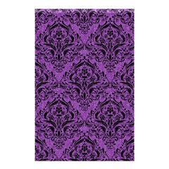 Damask1 Black Marble & Purple Denim Shower Curtain 48  X 72  (small)  by trendistuff