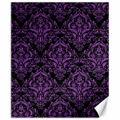 Damask1 Black Marble & Purple Denim (r) Canvas 20  X 24   by trendistuff