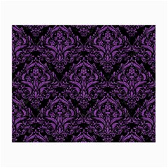Damask1 Black Marble & Purple Denim (r) Small Glasses Cloth (2 Side) by trendistuff