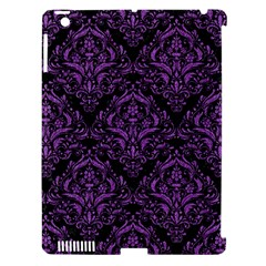 Damask1 Black Marble & Purple Denim (r) Apple Ipad 3/4 Hardshell Case (compatible With Smart Cover) by trendistuff
