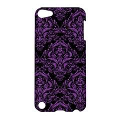 Damask1 Black Marble & Purple Denim (r) Apple Ipod Touch 5 Hardshell Case by trendistuff