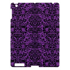 Damask2 Black Marble & Purple Denim Apple Ipad 3/4 Hardshell Case by trendistuff