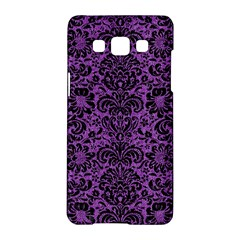 Damask2 Black Marble & Purple Denim Samsung Galaxy A5 Hardshell Case  by trendistuff