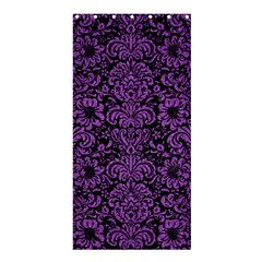 Damask2 Black Marble & Purple Denim (r) Shower Curtain 36  X 72  (stall)  by trendistuff