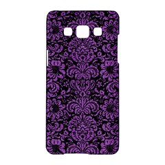 Damask2 Black Marble & Purple Denim (r) Samsung Galaxy A5 Hardshell Case  by trendistuff