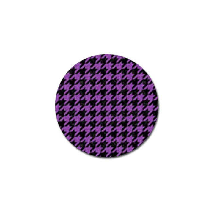 HOUNDSTOOTH1 BLACK MARBLE & PURPLE DENIM Golf Ball Marker