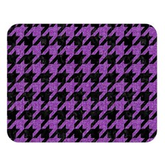 Houndstooth1 Black Marble & Purple Denim Double Sided Flano Blanket (large)