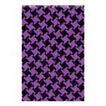 HOUNDSTOOTH2 BLACK MARBLE & PURPLE DENIM Shower Curtain 48  x 72  (Small)  42.18 x64.8 Curtain
