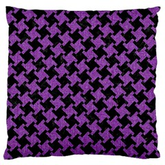 Houndstooth2 Black Marble & Purple Denim Standard Flano Cushion Case (one Side) by trendistuff