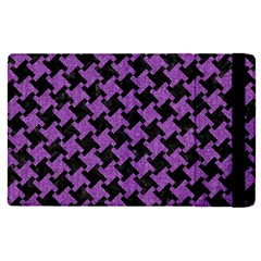 Houndstooth2 Black Marble & Purple Denim Apple Ipad Pro 9 7   Flip Case by trendistuff