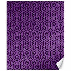 Hexagon1 Black Marble & Purple Denim Canvas 20  X 24
