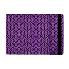Hexagon1 Black Marble & Purple Denim Apple Ipad Mini Flip Case by trendistuff