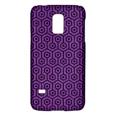 Hexagon1 Black Marble & Purple Denim Galaxy S5 Mini by trendistuff