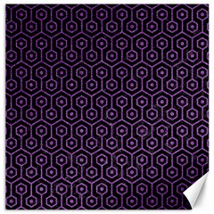 Hexagon1 Black Marble & Purple Denim (r) Canvas 20  X 20   by trendistuff