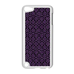 Hexagon1 Black Marble & Purple Denim (r) Apple Ipod Touch 5 Case (white) by trendistuff