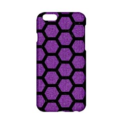 Hexagon2 Black Marble & Purple Denim Apple Iphone 6/6s Hardshell Case by trendistuff