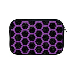 Hexagon2 Black Marble & Purple Denim (r) Apple Macbook Pro 13  Zipper Case by trendistuff