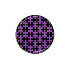 Puzzle1 Black Marble & Purple Denim Hat Clip Ball Marker (10 Pack) by trendistuff
