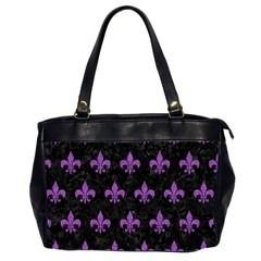 Royal1 Black Marble & Purple Denim Office Handbags (2 Sides)  by trendistuff