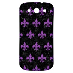 Royal1 Black Marble & Purple Denim Samsung Galaxy S3 S Iii Classic Hardshell Back Case by trendistuff