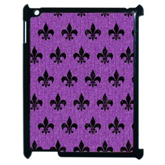 Royal1 Black Marble & Purple Denim (r) Apple Ipad 2 Case (black) by trendistuff