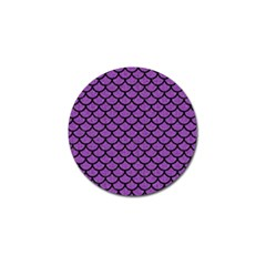 Scales1 Black Marble & Purple Denim Golf Ball Marker (4 Pack) by trendistuff