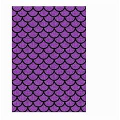 Scales1 Black Marble & Purple Denim Large Garden Flag (two Sides) by trendistuff