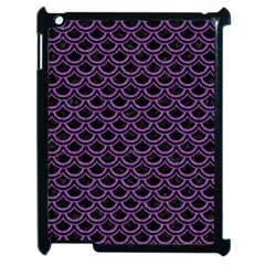 Scales2 Black Marble & Purple Denim (r) Apple Ipad 2 Case (black) by trendistuff