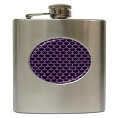 Scales3 Black Marble & Purple Denim (r) Hip Flask (6 Oz) by trendistuff