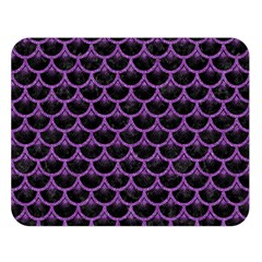 Scales3 Black Marble & Purple Denim (r) Double Sided Flano Blanket (large)  by trendistuff