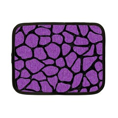 Skin1 Black Marble & Purple Denim (r) Netbook Case (small)