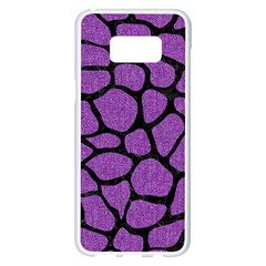 Skin1 Black Marble & Purple Denim (r) Samsung Galaxy S8 Plus White Seamless Case by trendistuff