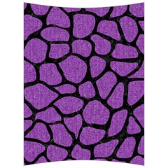 Skin1 Black Marble & Purple Denim (r) Back Support Cushion by trendistuff