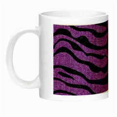 Skin2 Black Marble & Purple Denim Night Luminous Mugs by trendistuff
