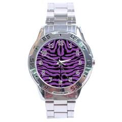 Skin2 Black Marble & Purple Denim Stainless Steel Analogue Watch by trendistuff