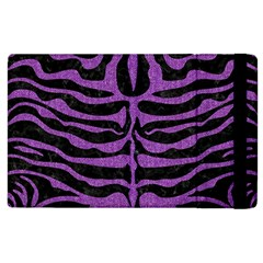 Skin2 Black Marble & Purple Denim (r) Apple Ipad 2 Flip Case by trendistuff