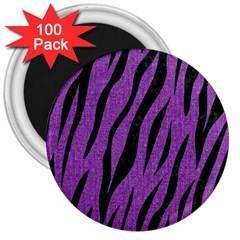 Skin3 Black Marble & Purple Denim 3  Magnets (100 Pack) by trendistuff