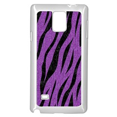 Skin3 Black Marble & Purple Denim Samsung Galaxy Note 4 Case (white) by trendistuff