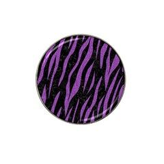 Skin3 Black Marble & Purple Denim (r) Hat Clip Ball Marker (10 Pack) by trendistuff