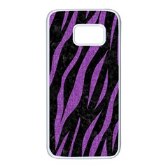 Skin3 Black Marble & Purple Denim (r) Samsung Galaxy S7 White Seamless Case