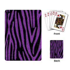 Skin4 Black Marble & Purple Denim Playing Card by trendistuff