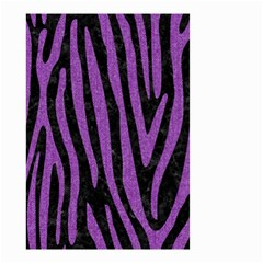 Skin4 Black Marble & Purple Denim Small Garden Flag (two Sides) by trendistuff